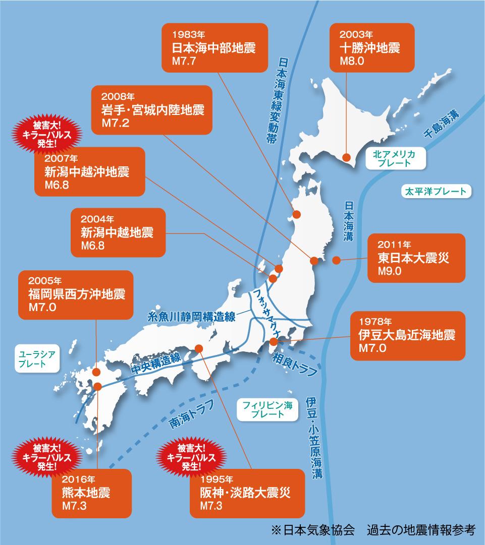 日本気象協会 過去の地震情報参考